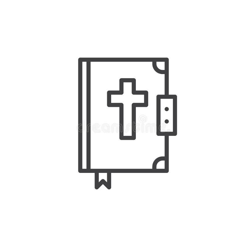 Εικονίδιο γραμμών Βίβλων ελεύθερη απεικόνιση δικαιώματος