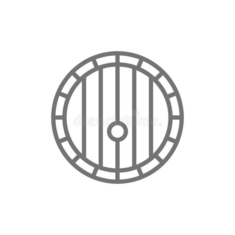 Εικονίδιο γραμμών βαρελιών κρασιού ελεύθερη απεικόνιση δικαιώματος