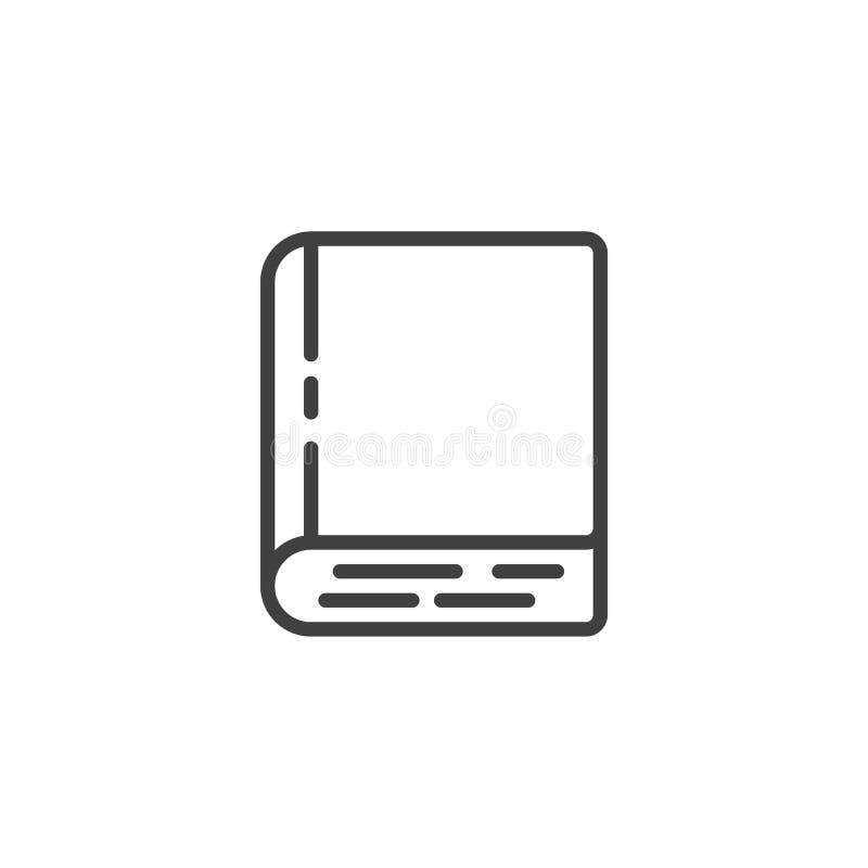 Εικονίδιο γραμμών βιβλίων Hardcover απεικόνιση αποθεμάτων