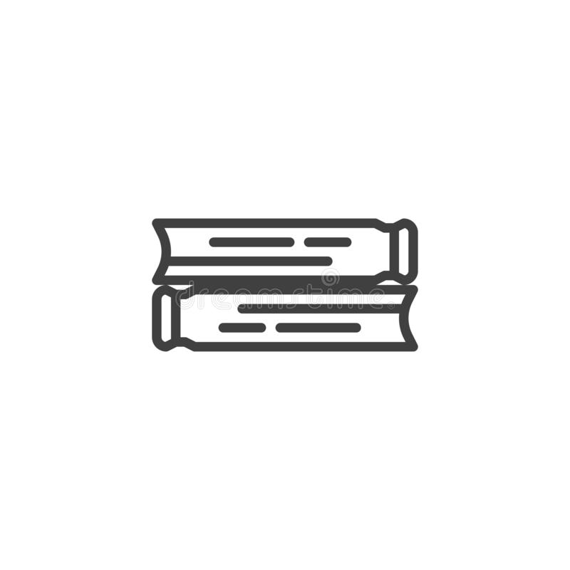 Εικονίδιο γραμμών δύο βιβλίων απεικόνιση αποθεμάτων