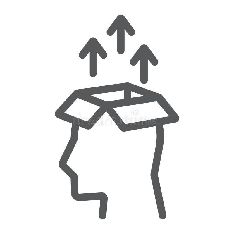 Εικονίδιο γραμμών εξαγωγής γνώσης, στοιχεία διανυσματική απεικόνιση