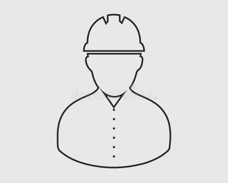 Εικονίδιο γραμμών εργαζομένων διανυσματική απεικόνιση