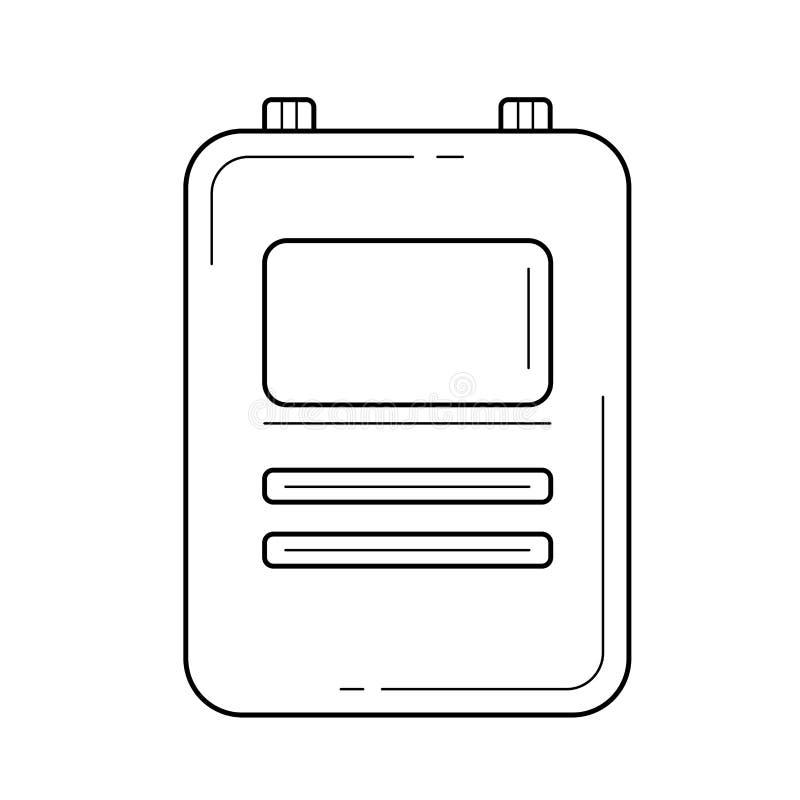 Εικονίδιο γραμμών ιατρικών αναφορών διανυσματική απεικόνιση