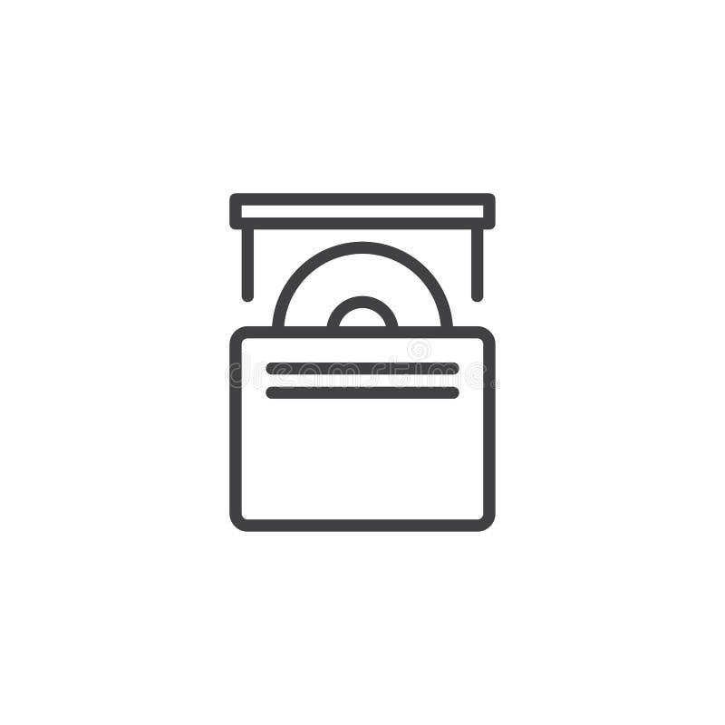 Εικονίδιο γραμμών κίνησης του CD ελεύθερη απεικόνιση δικαιώματος