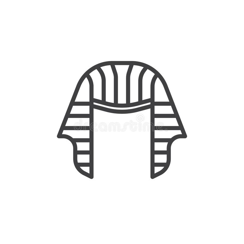 Εικονίδιο γραμμών καπέλων Pharaoh απεικόνιση αποθεμάτων