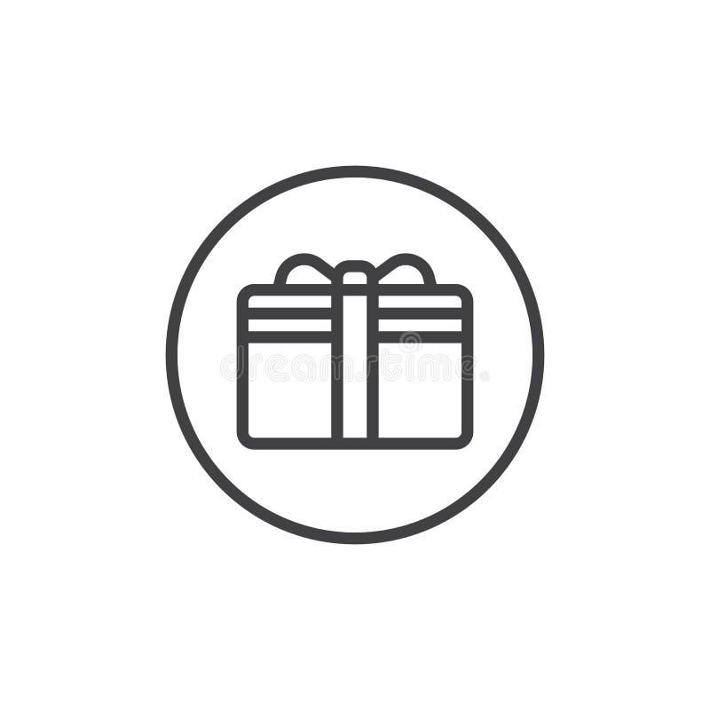 Εικονίδιο γραμμών καρτών δώρων απεικόνιση αποθεμάτων