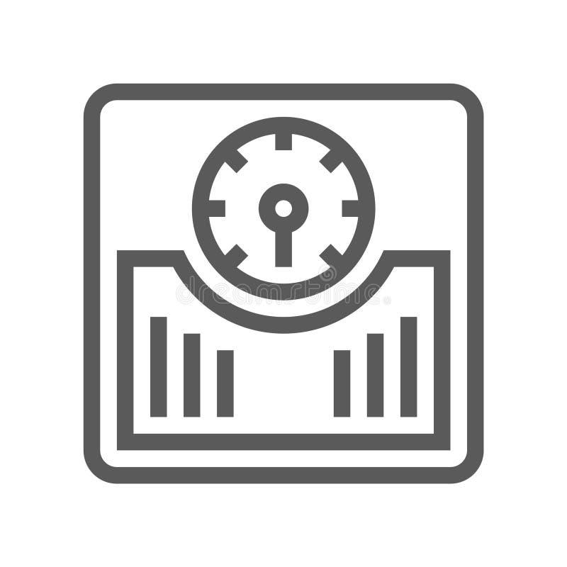 Εικονίδιο γραμμών κλιμάκων πατωμάτων απεικόνιση αποθεμάτων