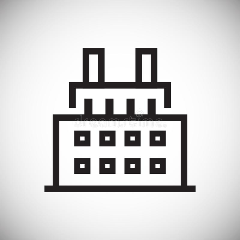 Εικονίδιο γραμμών κτηρίου στο υπόβαθρο για το γραφικό και σχέδιο Ιστού Απλό διανυσματικό σημάδι Σύμβολο έννοιας Διαδικτύου για το διανυσματική απεικόνιση