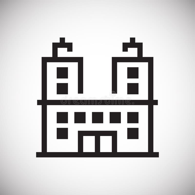 Εικονίδιο γραμμών κτηρίου στο υπόβαθρο για το γραφικό και σχέδιο Ιστού E r διανυσματική απεικόνιση