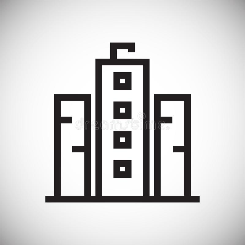 Εικονίδιο γραμμών κτηρίου στο υπόβαθρο για το γραφικό και σχέδιο Ιστού Απλό διανυσματικό σημάδι Σύμβολο έννοιας Διαδικτύου για το απεικόνιση αποθεμάτων