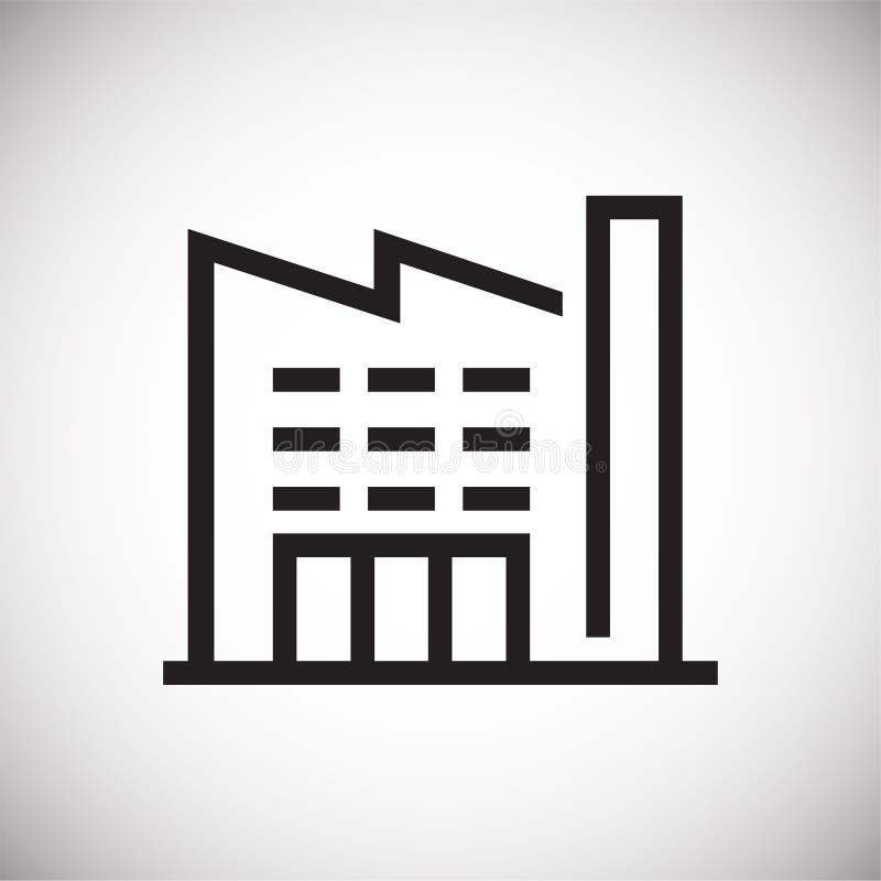 Εικονίδιο γραμμών κτηρίου στο υπόβαθρο για το γραφικό και σχέδιο Ιστού Απλό διανυσματικό σημάδι Σύμβολο έννοιας Διαδικτύου για το ελεύθερη απεικόνιση δικαιώματος