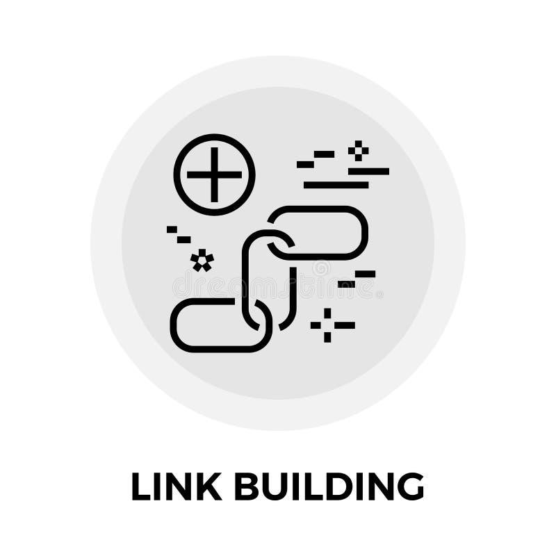 Εικονίδιο γραμμών κτηρίου συνδέσεων ελεύθερη απεικόνιση δικαιώματος