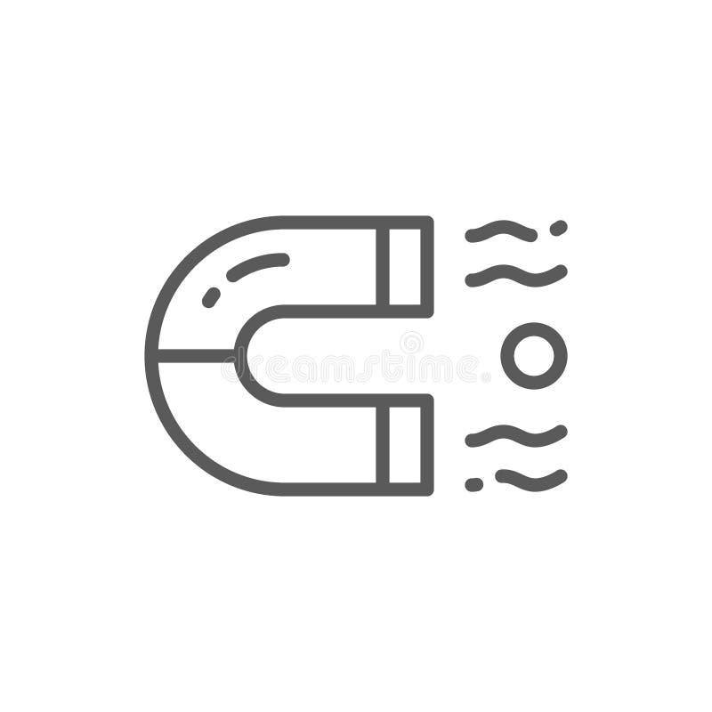 Εικονίδιο γραμμών μαγνητών ελεύθερη απεικόνιση δικαιώματος