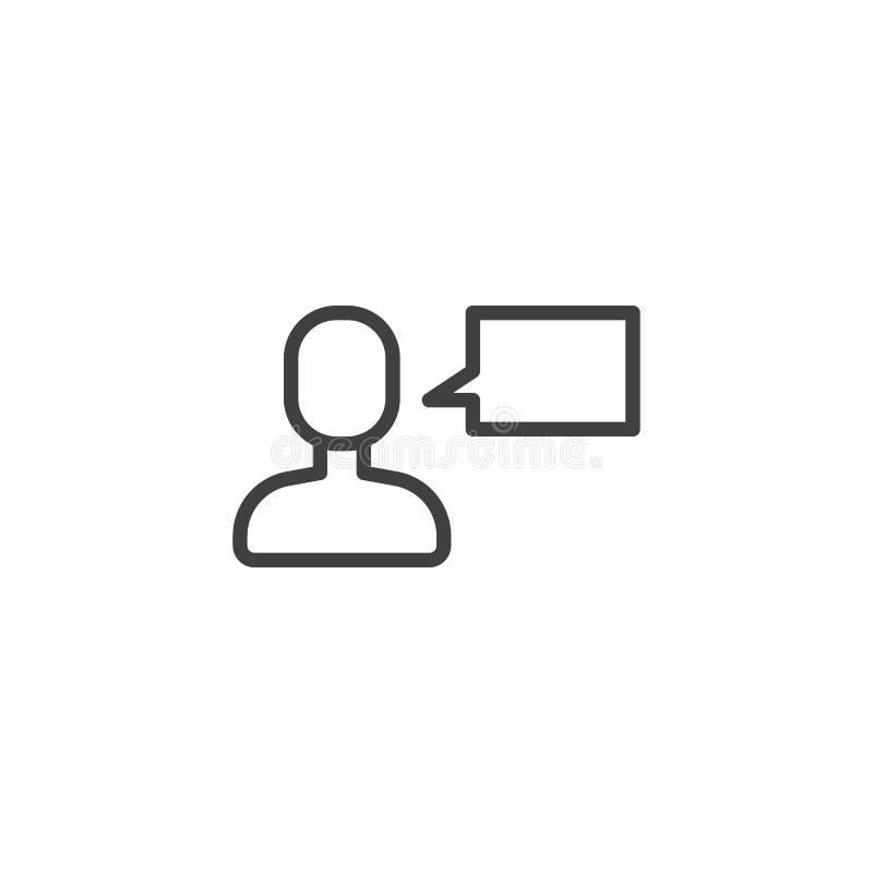Εικονίδιο γραμμών μηνυμάτων συνομιλίας χρηστών ελεύθερη απεικόνιση δικαιώματος