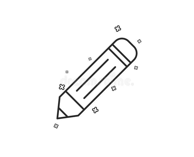 Εικονίδιο γραμμών μολυβιών Εκδώστε το σημάδι διάνυσμα ελεύθερη απεικόνιση δικαιώματος