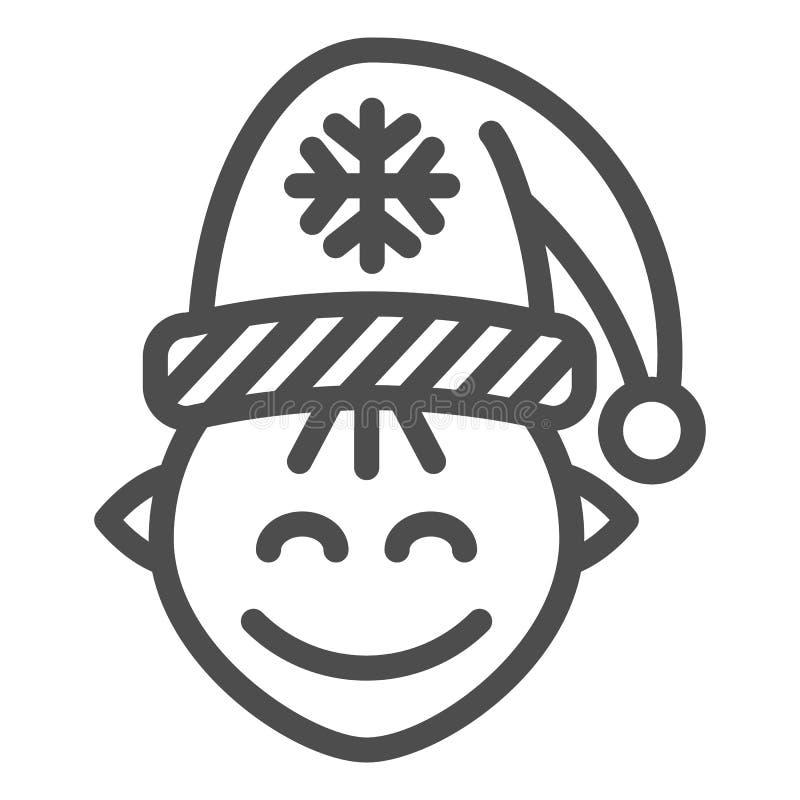Εικονίδιο γραμμών νεραιδών Santas Χριστουγέννων νεραιδών απεικόνιση που απομονώνεται διανυσματική στο λευκό Σχέδιο ύφους περιλήψε διανυσματική απεικόνιση