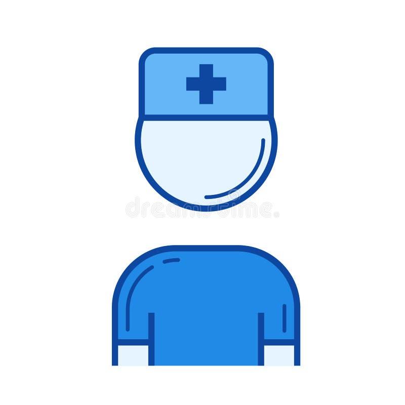 Εικονίδιο γραμμών νοσοκόμων ελεύθερη απεικόνιση δικαιώματος