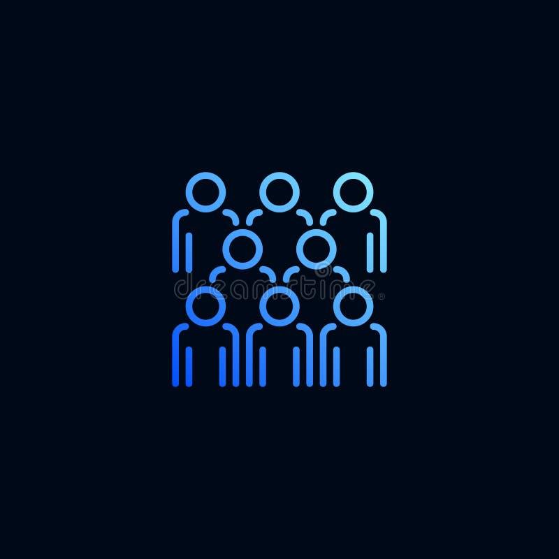 Εικονίδιο γραμμών ομάδας ανθρώπων Διανυσματική απεικόνιση στο γραμμικό ύφος ελεύθερη απεικόνιση δικαιώματος