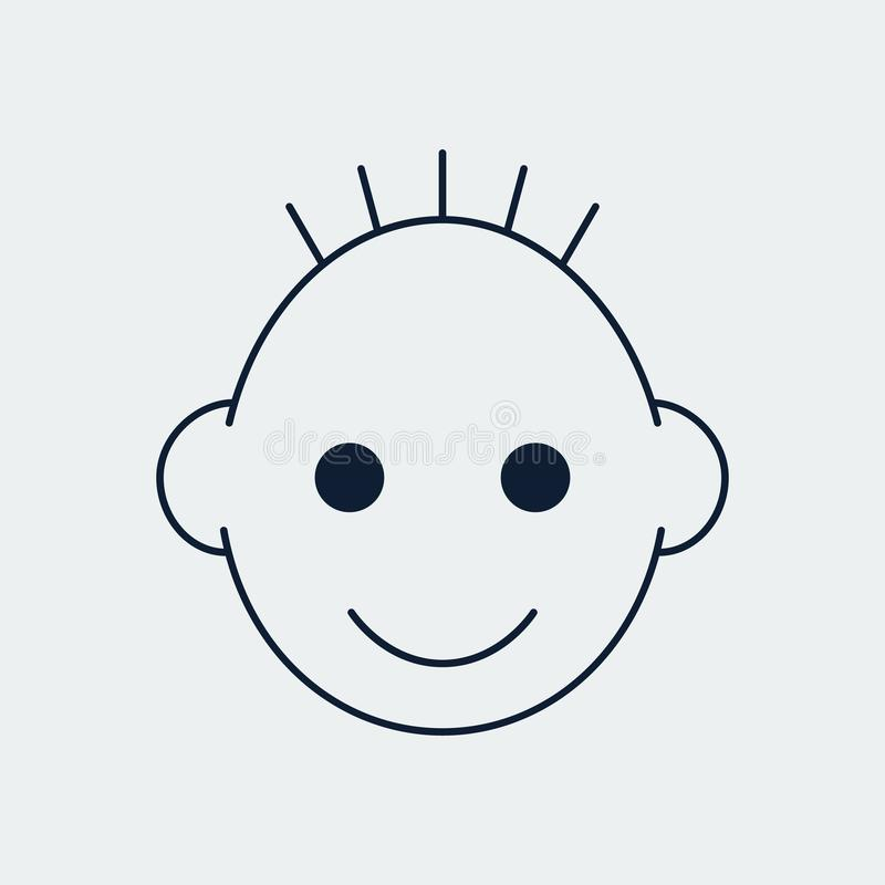 Εικονίδιο γραμμών παιδιών για το σχέδιο Ιστού επίσης corel σύρετε το διάνυσμα απεικόνισης απεικόνιση αποθεμάτων