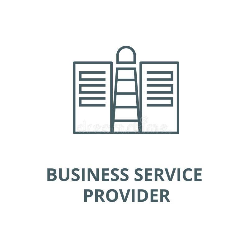 Εικονίδιο γραμμών προμηθευτών υπηρεσίας επιχείρησης conept, διάνυσμα Ο προμηθευτής υπηρεσίας επιχείρησης conept περιγράφει το σημ διανυσματική απεικόνιση
