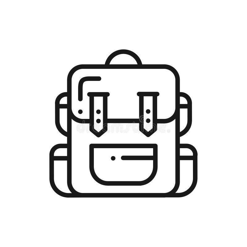 Εικονίδιο γραμμών σακιδίων πλάτης πεζοπορίας Τουριστική τσάντα στρατοπέδευσης Αποσκευές σακιδίων ελεύθερη απεικόνιση δικαιώματος