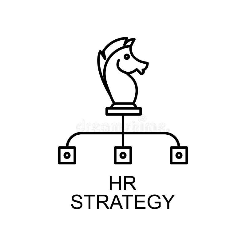 Εικονίδιο γραμμών στρατηγικής ωρ. Στοιχείο του εικονιδίου ανθρώπινων δυναμικών για την κινητούς έννοια και τον Ιστό apps Το λεπτό διανυσματική απεικόνιση