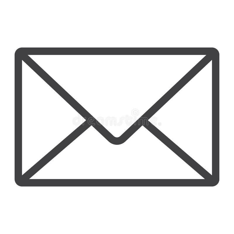 Εικονίδιο γραμμών ταχυδρομείου, Ιστός και κινητός, σημάδι επιστολών απεικόνιση αποθεμάτων