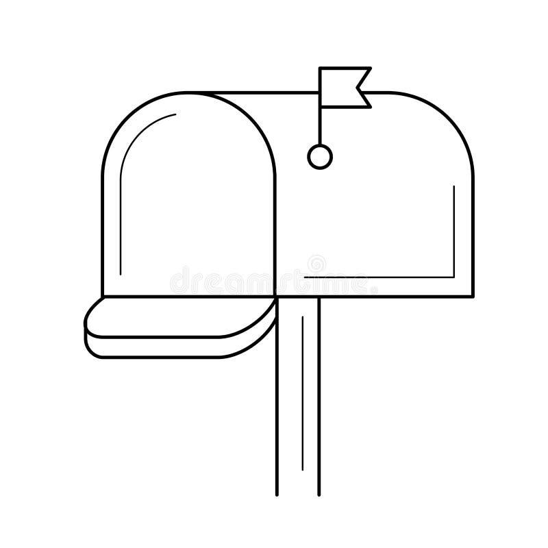 Εικονίδιο γραμμών ταχυδρομικών θυρίδων διανυσματική απεικόνιση
