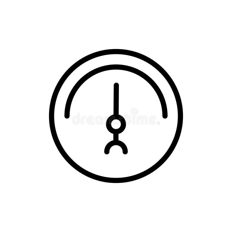 Εικονίδιο γραμμών ταχυμέτρων διανυσματική απεικόνιση