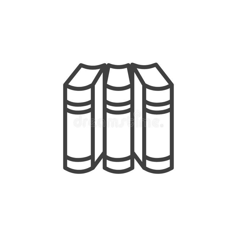 Εικονίδιο γραμμών τριών βιβλίων ελεύθερη απεικόνιση δικαιώματος