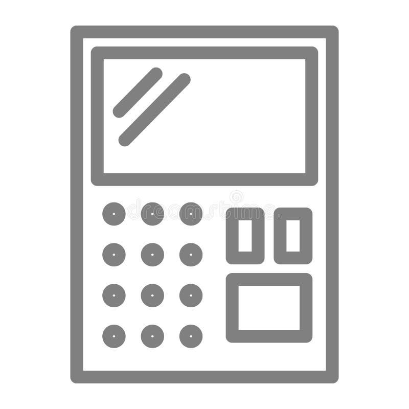 Εικονίδιο γραμμών υπολογιστών Λογιστικής απεικόνιση που απομονώνεται διανυσματική στο λευκό Υπολογίστε το σχέδιο ύφους περιλήψεων απεικόνιση αποθεμάτων