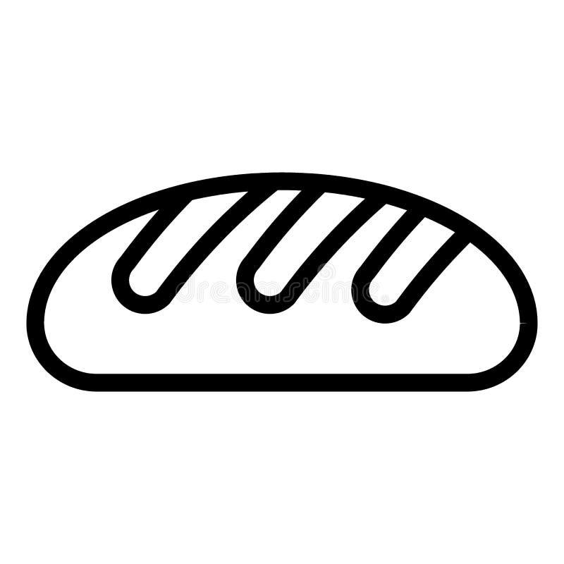 Εικονίδιο γραμμών ψωμιού σίτου Φραντζολών απεικόνιση που απομονώνεται διανυσματική στο λευκό Σχέδιο ύφους περιλήψεων αρτοποιείων, διανυσματική απεικόνιση