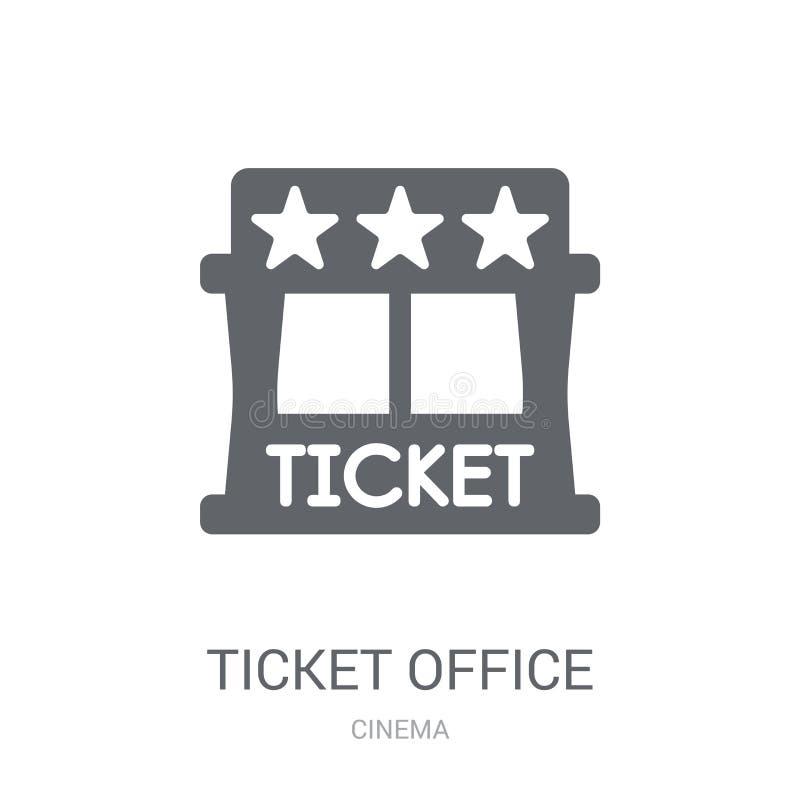Εικονίδιο γραφείων εκδόσεως εισιτηρίων Καθιερώνουσα τη μόδα έννοια λογότυπων γραφείων εκδόσεως εισιτηρίων στο άσπρο β ελεύθερη απεικόνιση δικαιώματος