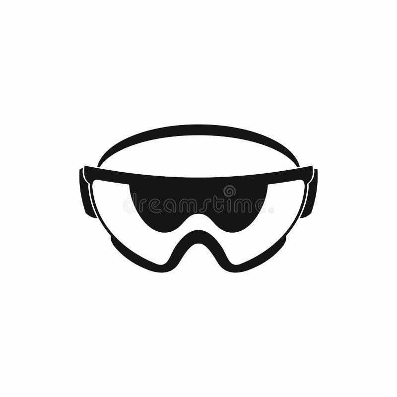 Εικονίδιο γυαλιών ασφάλειας, απλό ύφος απεικόνιση αποθεμάτων