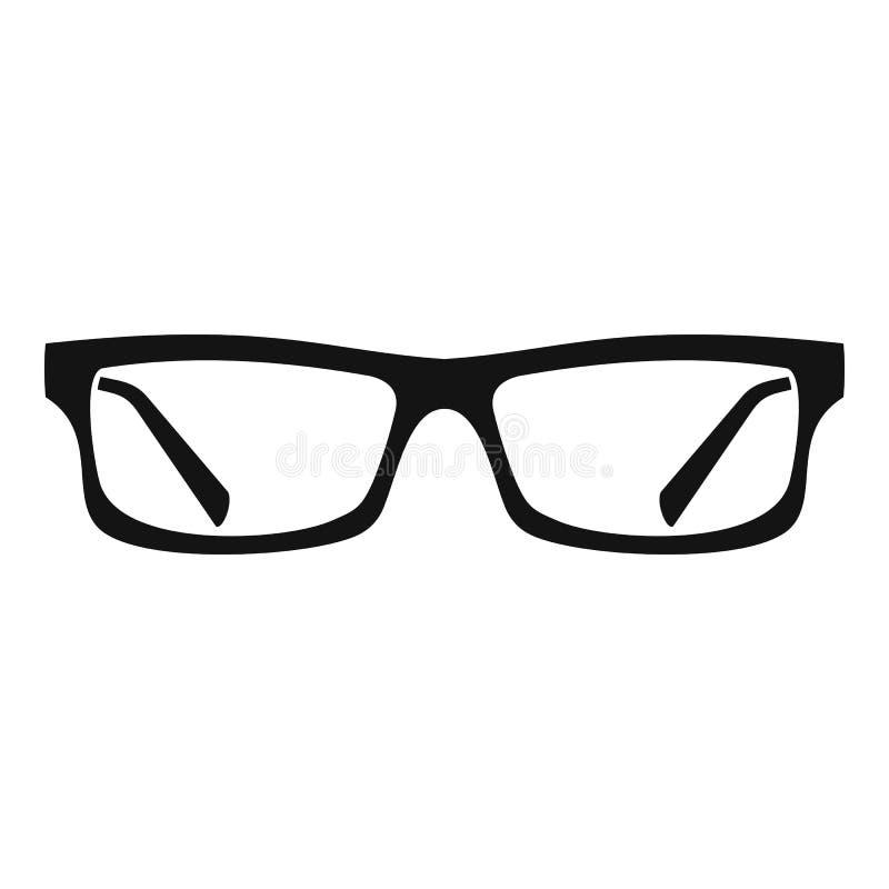 Εικονίδιο γυαλιών ματιών, απλό ύφος διανυσματική απεικόνιση
