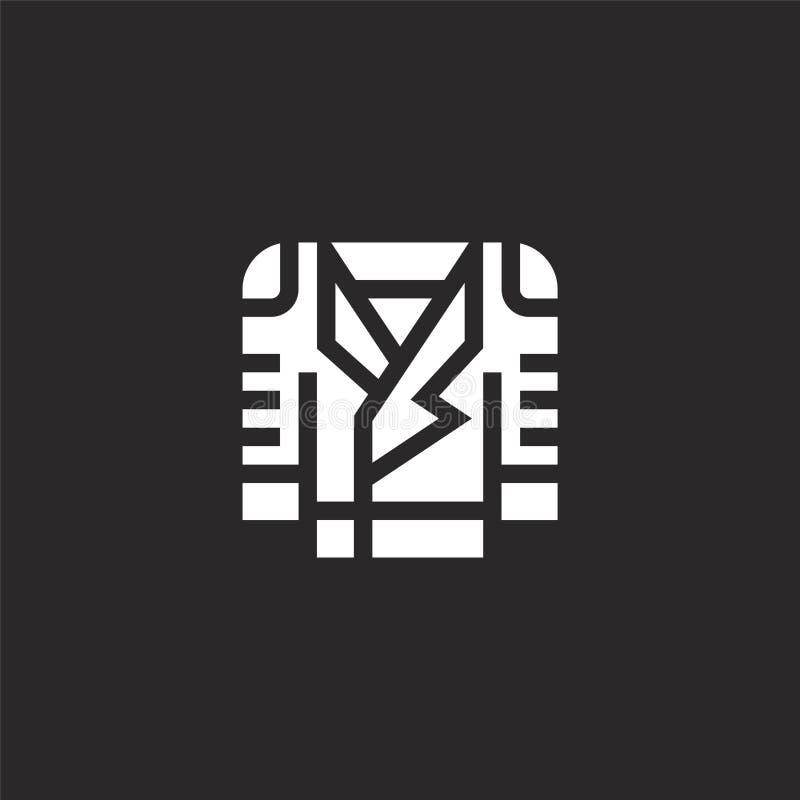εικονίδιο δέρματος Γεμισμένο εικονίδιο δέρματος για το σχέδιο ιστοχώρου και κινητός, app ανάπτυξη εικονίδιο δέρματος από το γεμισ διανυσματική απεικόνιση