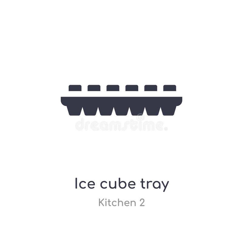 εικονίδιο δίσκων κύβων πάγου απομονωμένη διανυσματική απεικόνιση εικονιδίων δίσκων κύβων πάγου από την κουζίνα 2 συλλογή editable απεικόνιση αποθεμάτων