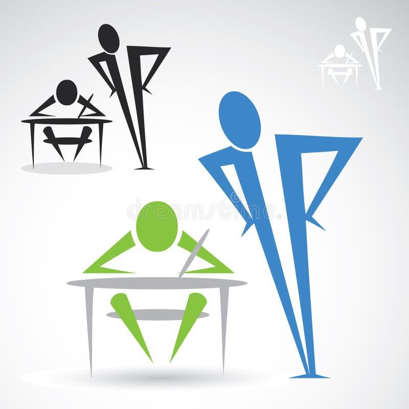 Εικονίδιο δασκάλων και σπουδαστών ελεύθερη απεικόνιση δικαιώματος