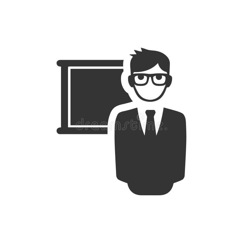 Εικονίδιο δασκάλων σχολείου απεικόνιση αποθεμάτων