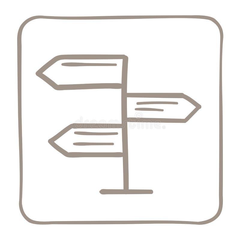 Εικονίδιο δεικτών βελών σε ένα ανοικτό καφέ πλαίσιο r ελεύθερη απεικόνιση δικαιώματος