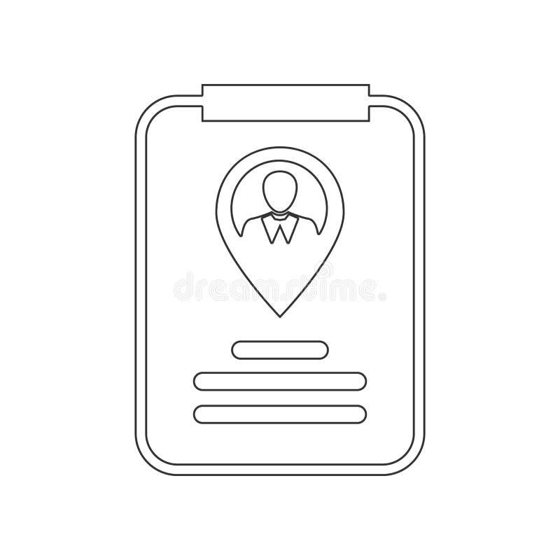 Εικονίδιο δεικτών χαρτών ταυτοτήτων Στοιχείο της ωρ. για το κινητό εικονίδιο έννοιας και Ιστού apps r ελεύθερη απεικόνιση δικαιώματος