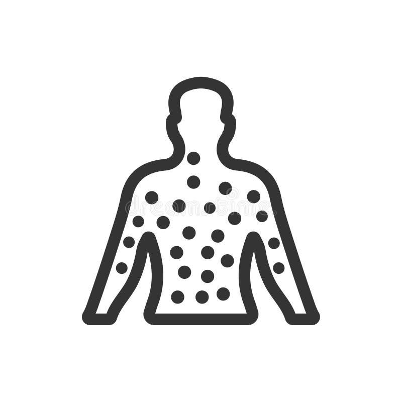 Εικονίδιο δερματολογίας ελεύθερη απεικόνιση δικαιώματος