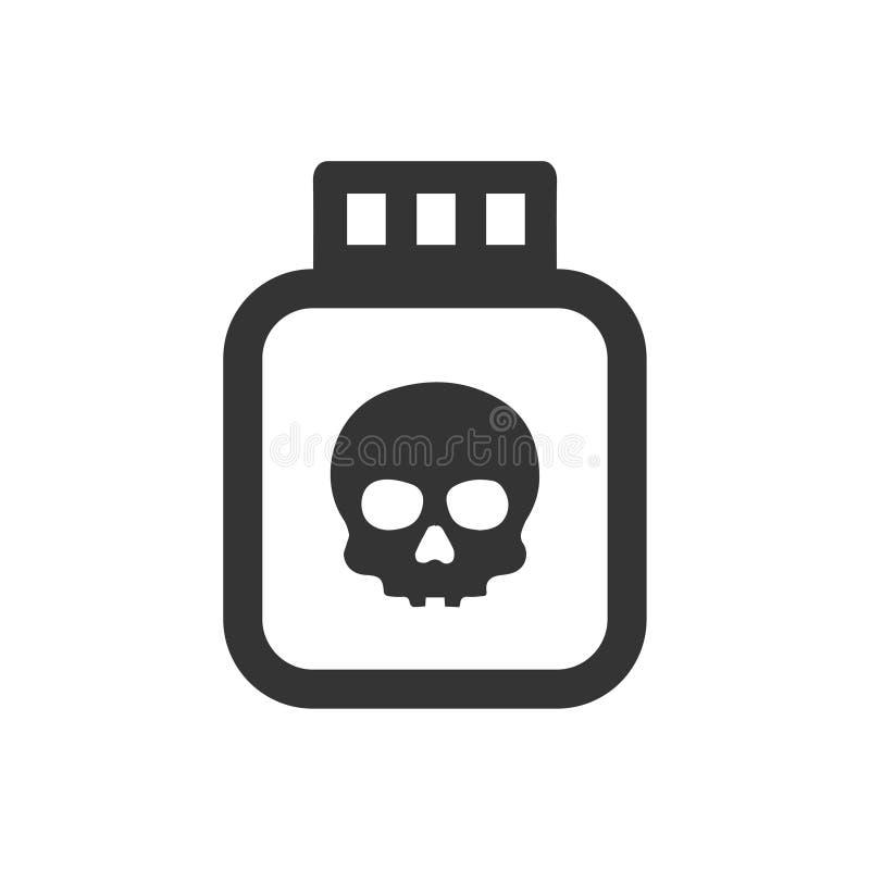 Εικονίδιο δηλητήριων ελεύθερη απεικόνιση δικαιώματος