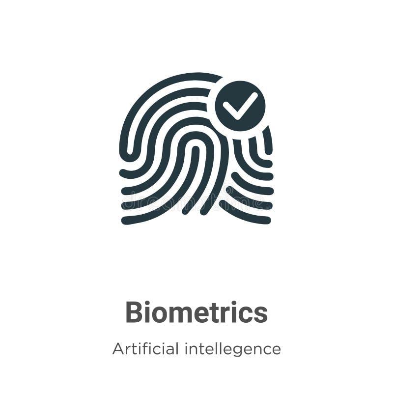 Εικονίδιο διάνυσματος βιομετρικών στοιχείων σε λευκό φόντο Σύμβολο εικονιδίου επίπεδης διανυσματικής βιομετρίας από τη σύγχρονη τ απεικόνιση αποθεμάτων