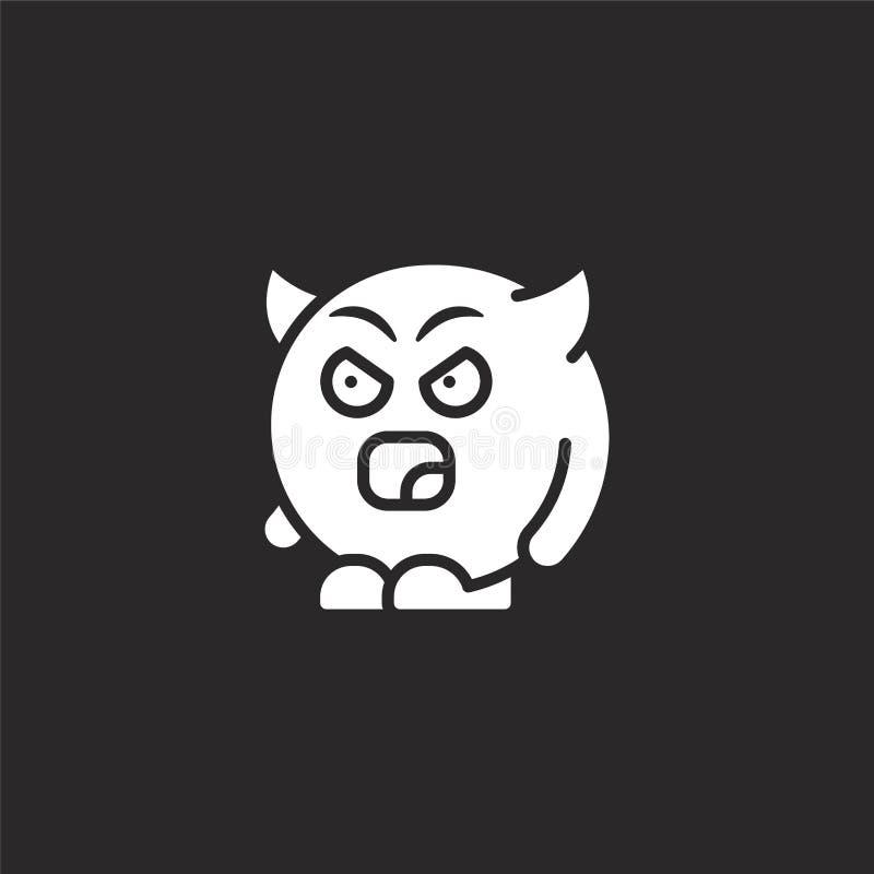 εικονίδιο διαβόλων Γεμισμένο εικονίδιο διαβόλων για το σχέδιο ιστοχώρου και κινητός, app ανάπτυξη εικονίδιο διαβόλων από τη γεμισ απεικόνιση αποθεμάτων