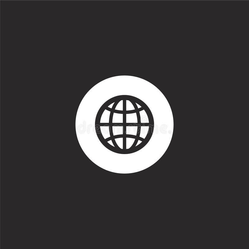 εικονίδιο Διαδικτύου Γεμισμένο εικονίδιο Διαδικτύου για το σχέδιο ιστοχώρου και κινητός, app ανάπτυξη εικονίδιο Διαδικτύου από τη διανυσματική απεικόνιση
