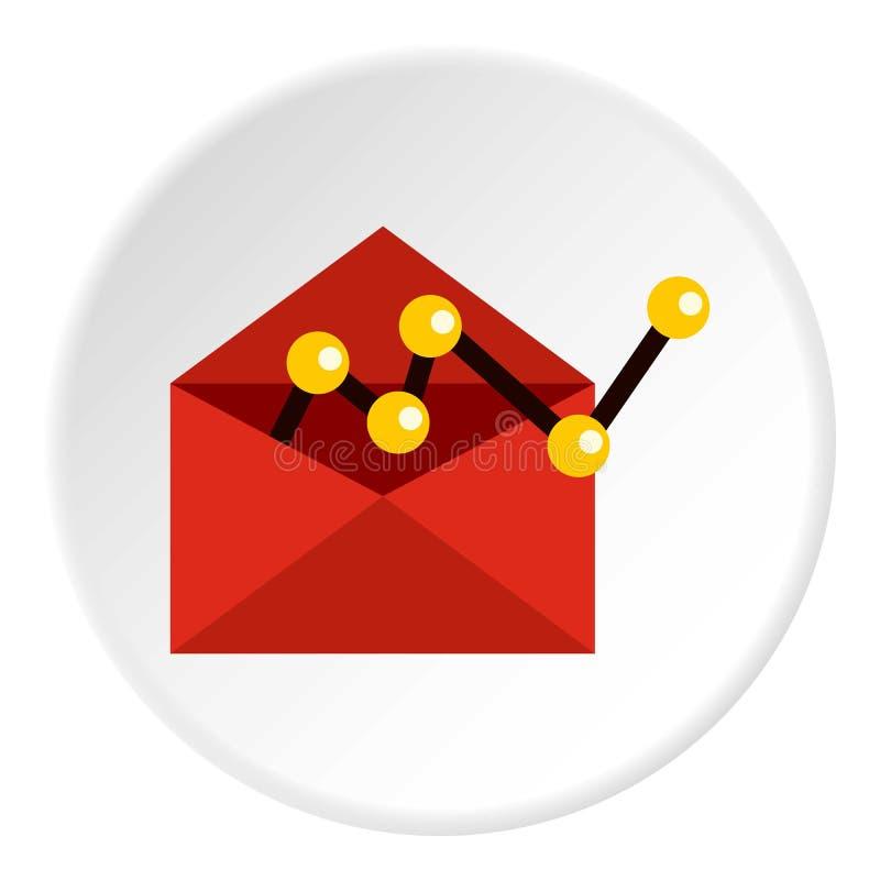 Εικονίδιο διαμόρφωσης ηλεκτρονικού ταχυδρομείου, επίπεδο ύφος διανυσματική απεικόνιση