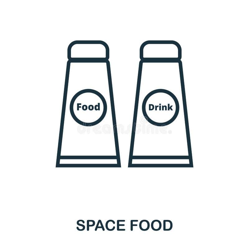 Εικονίδιο διαστημικών τροφίμων Επίπεδο σχέδιο εικονιδίων ύφους Ui Απεικόνιση του εικονιδίου διαστημικών τροφίμων εικονόγραμμα που ελεύθερη απεικόνιση δικαιώματος