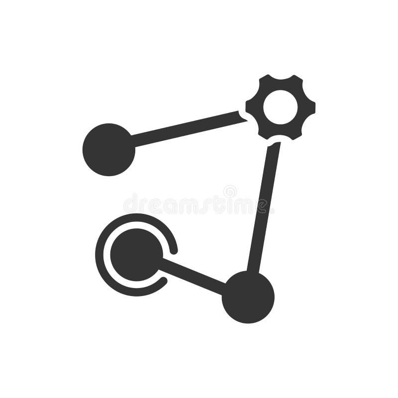 Εικονίδιο δικτύων υπηρεσιών ελεύθερη απεικόνιση δικαιώματος