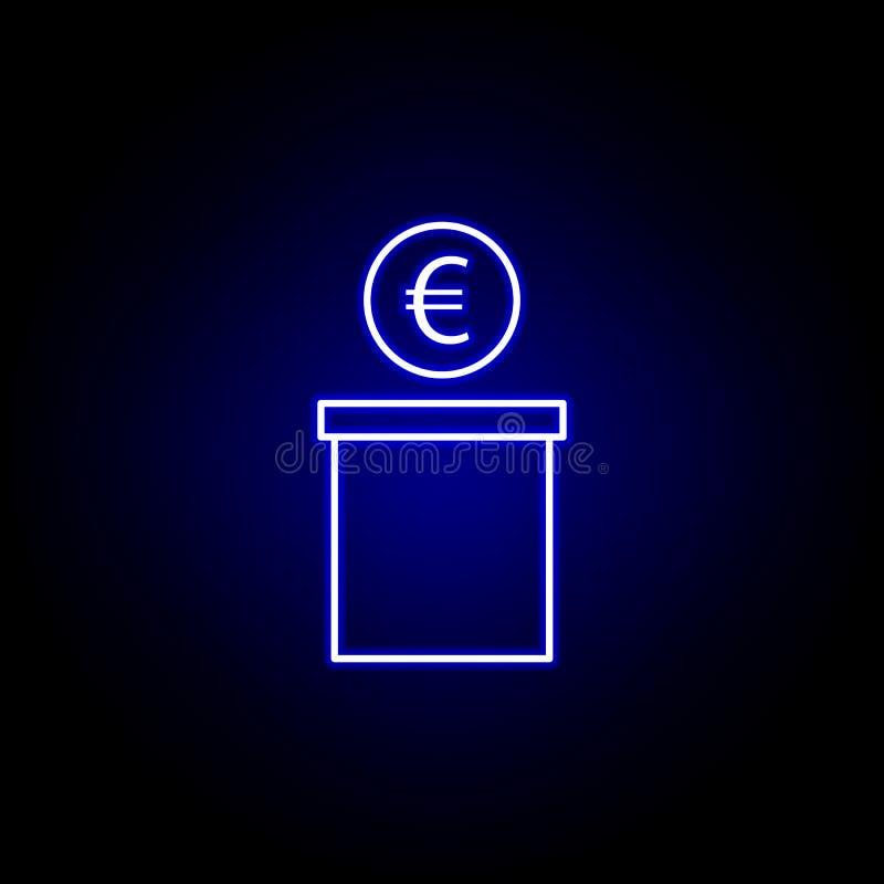 εικονίδιο δολαρίων δοχείων στο ύφος νέου Στοιχείο της απεικόνισης χρηματοδότησης Το εικονίδιο σημαδιών και συμβόλων μπορεί να χρη ελεύθερη απεικόνιση δικαιώματος